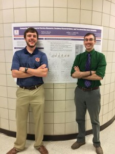 Jeff and Nathan, undergraduate student, presenting Fred Burggraf Award Work