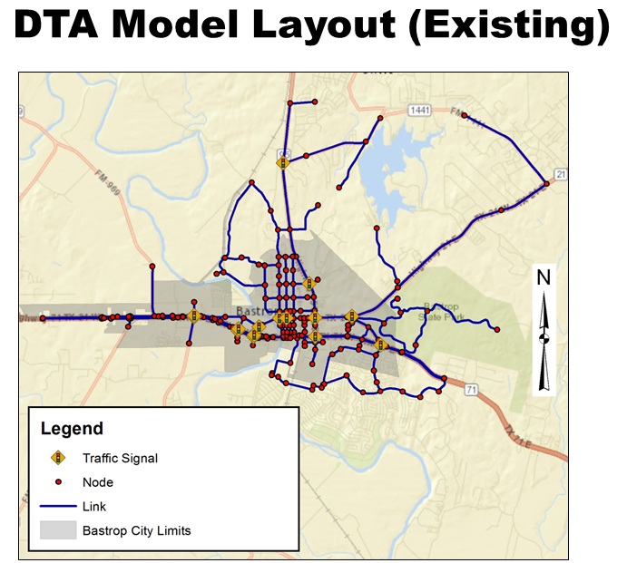 NMC model of existing Bastrop traffic
