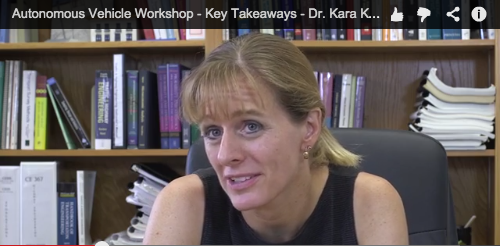 Autonomous Vehicle Workshop – Key Takeaways – Dr. Kara Kockelman