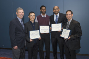 Photo of Dr. Boyles and his students with their award