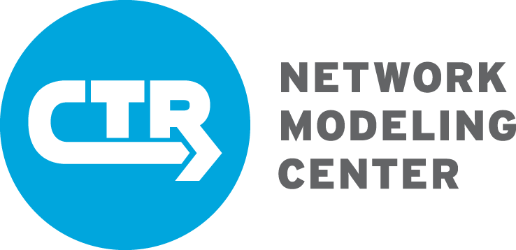 CTR-Network-Modeling-Center Logo blue and gray