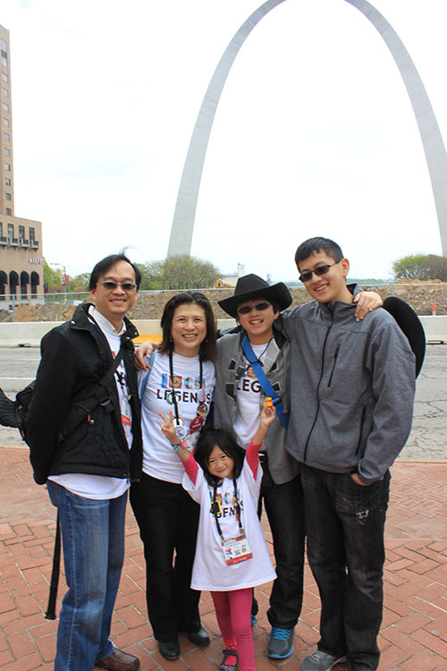 Photo of Yi-Chang with his family