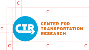 recommended clearances around CTR logo and wordmark