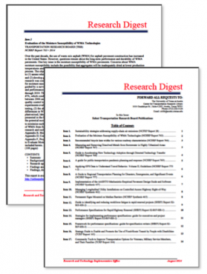 Research Digest, December 2016: TxDOT Research