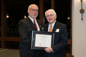 José Holguín-Veras (left) with Gene Lawson, President of the Academy of Distinguished Alumni