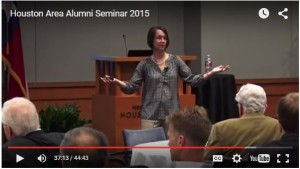 Screen grab of an Alumni Luncheon presentation video
