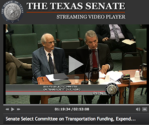 Rob and Mike Murphy testifying before Texas Senate